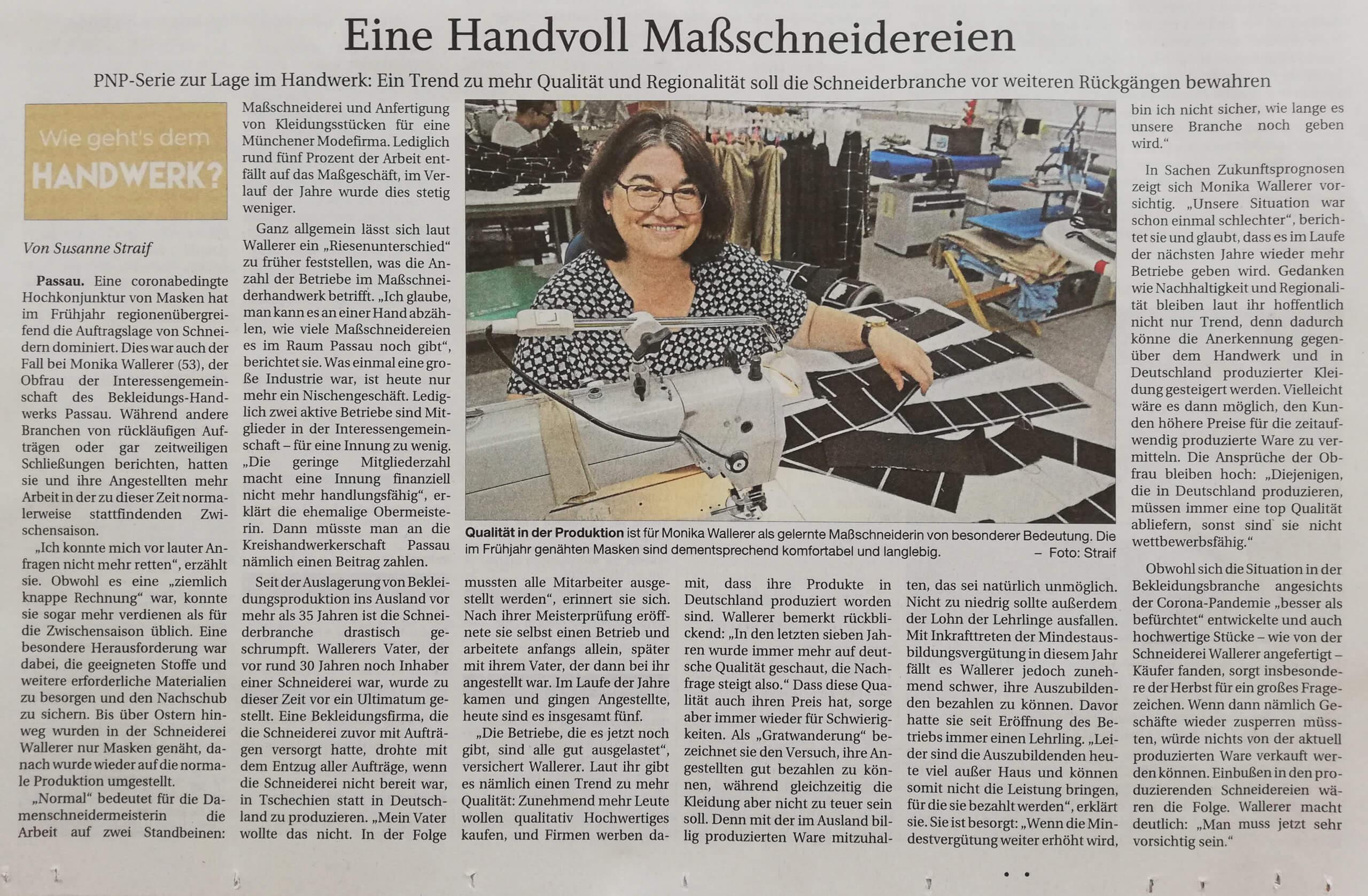 Pressebericht über Monika Wallner